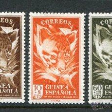Sellos: GUINEA ESPAÑOLA ED. Nº 306/08 ** DIA DEL SELLO 1951 GINETA - NUEVOS. Lote 54173615