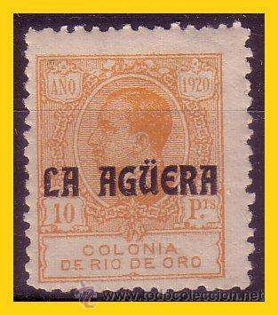 LA AGÜERA 1920 SELLOS DE RIO DE ORO HABILITADOS. EDIFIL Nº 13 * (Sellos - España - Colonias Españolas y Dependencias - África - La Agüera)