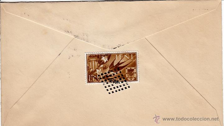Sellos: EDIFIL 159/62. SPD CIRCULADO A HORNACHUELOS. EN REVERSO ED. 143 CON ROMBO DE PUNTOS IFNI. - Foto 2 - 54681885