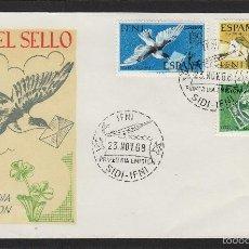 Sellos: IFNI . Nº 236/8 AÑO 1968 DIA DEL SELLO - SOBRE PRIMER DIA SPD / FDC EX COLONIAS ESPAÑA. Lote 55356464