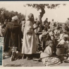 Sellos: MARRUECOS PROTECTORADO ESPAÑOL VILLA ALHUCEMAS 1935. POSTAL COSTUMBRES RIFEÑAS EL ZOCO. Lote 55370606