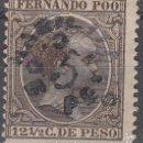 Sellos: EDIFIL 37. ALFONSO XII, 12 1/2 C. DE PESO 1896 -1900. HABILITADO 5 CTMS DE PESO. NUEVO CON FIJASELLO. Lote 56006118