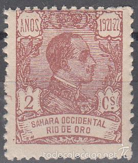 EDIFIL 131. ALFONSO XIII 1921. NUEVO CON FIJASELLOS, (Sellos - España - Colonias Españolas y Dependencias - África - Río de Oro)
