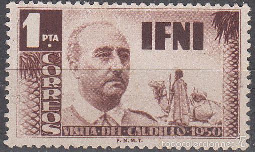 EDIFIL 73/4. VISITA DE FRANCO EN 1951. NUEVO CON FIJASELLOS (Sellos - España - Colonias Españolas y Dependencias - África - Ifni)