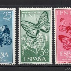 Sellos: IFNI 195/97** - AÑO 1963 - FAUNA - MARIPOSAS - PRO INFANCIA. Lote 122295864