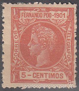 EDIFIL 99. ALFONSO XIII 1901. NUEVO CON FIJASELLOS. (Sellos - España - Colonias Españolas y Dependencias - África - Fernando Poo)