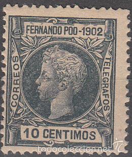 EDIFIL 111. ALFONSO XIII 1902. NUEVO CON FIJASELLOS. (Sellos - España - Colonias Españolas y Dependencias - África - Fernando Poo)