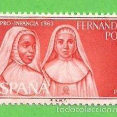 Sellos: EDIFIL 217 - FERNANDO POO - RELIGIOSAS CUIDANDO DE LA INFANCIA INDÍGENA. (1963).** NUEVO SIN FIJASEL. Lote 56280237