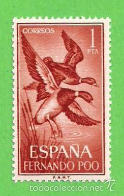 EDIFIL 230 - FERNANDO POO - AVES - ÁNADE REAL. (1964).** NUEVO SIN FIJASELLOS. (Sellos - España - Colonias Españolas y Dependencias - África - Fernando Poo)