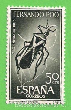 EDIFIL 242 - FERNANDO POO - PRO INFANCIA - ESCARABAJOS. (1965).** NUEVO SIN FIJASELLOS. (Sellos - España - Colonias Españolas y Dependencias - África - Fernando Poo)