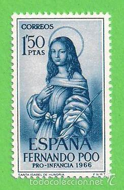EDIFIL 250 - FERNANDO POO - PRO INFANCIA - SANTA ISABEL DE HUNGRÍA (1966).** NUEVO SIN FIJASELLOS. (Sellos - España - Colonias Españolas y Dependencias - África - Fernando Poo)