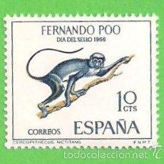 Sellos: EDIFIL 251 - FERNANDO POO - DÍA DEL SELLO - CERCOPITECO. (1966).** NUEVO SIN FIJASELLOS.. Lote 56282897