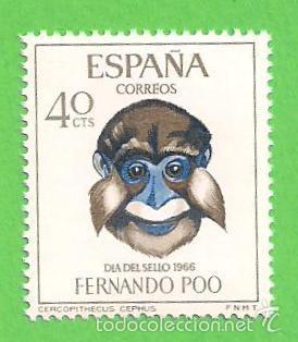 EDIFIL 252 - FERNANDO POO - DÍA DEL SELLO - CERCOPITECO. (1966).** NUEVO SIN FIJASELLOS. (Sellos - España - Colonias Españolas y Dependencias - África - Fernando Poo)