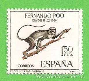 EDIFIL 253 - FERNANDO POO - DÍA DEL SELLO - CERCOPITECO. (1966).** NUEVO SIN FIJASELLOS. (Sellos - España - Colonias Españolas y Dependencias - África - Fernando Poo)
