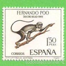 Sellos: EDIFIL 253 - FERNANDO POO - DÍA DEL SELLO - CERCOPITECO. (1966).** NUEVO SIN FIJASELLOS.. Lote 56283022