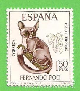 EDIFIL 260 - FERNANDO POO - DÍA DEL SELLO - GALGO ELEGANTE DEL SUR. (1967).** NUEVO SIN FIJASELLOS (Sellos - España - Colonias Españolas y Dependencias - África - Fernando Poo)
