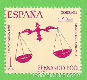 EDIFIL 265 - FERNANDO POO - PRO INFANCIA - ZODIACO - LIBRA. (1968).** NUEVO SIN FIJASELLOS. (Sellos - España - Colonias Españolas y Dependencias - África - Fernando Poo)