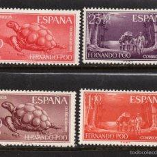 Sellos: FERNANDO POO 203/06* - AÑO 1961 - FAUNA - TORTUGAS - DIA DEL SELLO. Lote 203637116