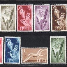 Sellos: IFNI 103/13** - AÑO 1954 - FLORA Y FAUNA - FLORES Y AVES. Lote 56471867