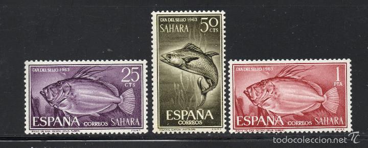 SAHARA 222/24** - AÑO 1964 - FAUNA MARINA - PECES - DIA DEL SELLO (Sellos - España - Colonias Españolas y Dependencias - África - Sahara)