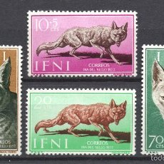 Sellos: IFNI 138/41** - AÑO 1957 - FAUNA - ANIMALES SALVAJES - DÍA DEL SELLO. Lote 56560835