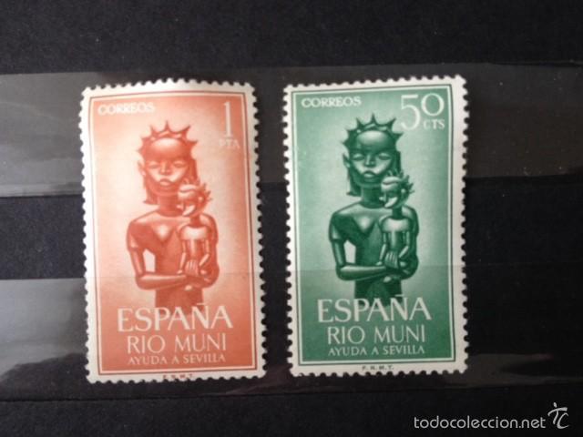 RIO MUNI 1963 AYUDA A SEVILLA EDIFIL 35/6** (Sellos - España - Colonias Españolas y Dependencias - África - Río Muni)