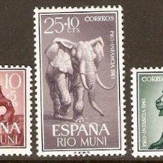 Sellos: RIO MUNI EDIFIL 18/0** SERIE COMPLETA SIN FIJASELLOS. Lote 91932897