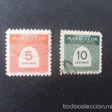 Sellos: MARRUECOS,1953,CIIFRAS,EDIFIL 382-383,COMPLETA,USADOS,(LOTE RY). Lote 56985236