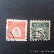Sellos: MARRUECOS,1953,CIIFRAS,EDIFIL 382-383,COMPLETA,USADOS,(LOTE RY). Lote 56985249