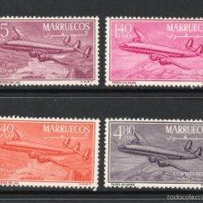 Sellos: MARRUECOS ZONA NORTE 9/12* - AÑO 1956 - AVION CONSTELATION. Lote 57051568