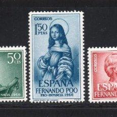 Sellos: FERNANDO POO 248/50** - AÑO 1966 - PRO INFANCIA - EDUCACION CONJUNTA - SANTA ISABEL DE HUNGRÍA. Lote 203638795