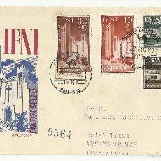 Sellos: SPD 1960 CIRCULADO SIDI IFNI A ARENYS DE MAR BARCELONA VER FOTO. Lote 147916573