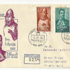 Sellos: SPD 1962 CIRCULADO SIDI IFNI A ARENYS DE MAR BARCELONA . Lote 147916641