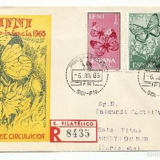 Sellos: SPD 1963 CIRCULADO SIDI IFNI A ARENYS DE MAR BARCELONA . Lote 147916704