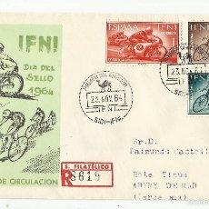 Sellos: SPD 1964 CIRCULADO SIDI IFNI A ARENYS DE MAR BARCELONA . Lote 147916770