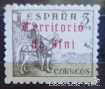 Sellos: IFNI - EDIFIL Nº 38 SELLO NUEVO (**) SIN FIJASELLOS - SOBRECARGA EN EL REVERSO - 2 FOTOS - Foto 3 - 50564363