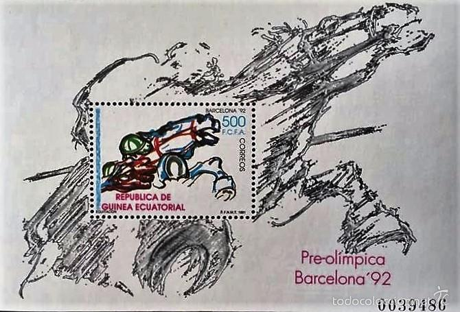 SELLOS GUINEA ECUATORIAL 1991** NUEVOS,EDIFIL HB 135, JUEGOS OLIMPICOS BARCELONA (Sellos - España - Colonias Españolas y Dependencias - África - Guinea)