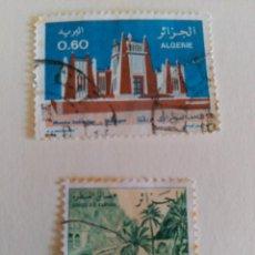 Sellos: 2 VALORES, USADOS, ALGERIE.. Lote 58248111