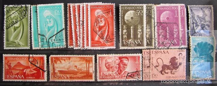 19 SELLOS USADOS FERNANDO POO (Sellos - España - Colonias Españolas y Dependencias - África - Fernando Poo)