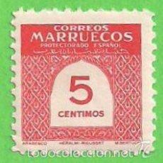 Sellos: EDIFIL 382 - MARRUECOS - CIFRAS. (1953).** NUEVO SIN FIJASELLOS.. Lote 58423855