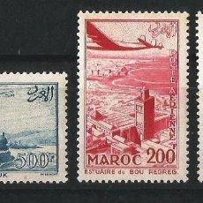 Sellos: MARRUECOS 1955 CORREO AEREO VISTAS NUEVOS. Lote 58607171