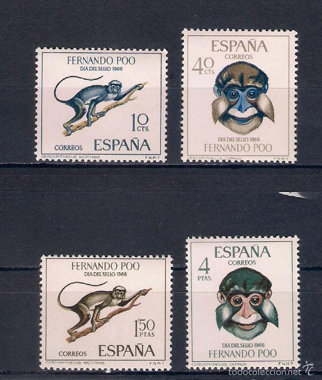ANIMALES SALVAJES DE ÁFRICA. AÑO 1966 (Sellos - España - Colonias Españolas y Dependencias - África - Fernando Poo)