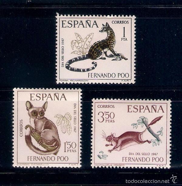 ANIMALES SALVAJES DE ÁFRICA. AÑO 1967 (Sellos - España - Colonias Españolas y Dependencias - África - Fernando Poo)