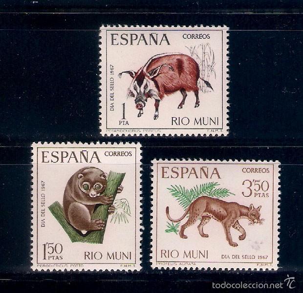 FAUNA SALVAJE DE ÁFRICA. RIO MUNI. EMIS. 23-11-1967 (Sellos - España - Colonias Españolas y Dependencias - África - Río Muni)
