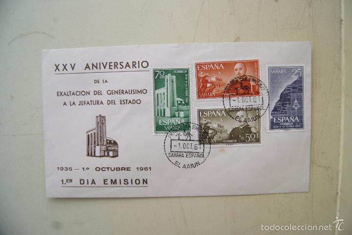 SOBRE PRIMER DIASAHARA 1961 (Sellos - España - Colonias Españolas y Dependencias - África - Río Muni)
