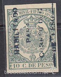 X 43C TIMBRE MÓVIL 1898 (Sellos - España - Colonias Españolas y Dependencias - África - Fernando Poo)