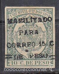 X 43HE TIMBRE MÓVIL 1898 (Sellos - España - Colonias Españolas y Dependencias - África - Fernando Poo)