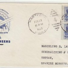 Sellos: CARTA : HARTFORD (USA) A TETUAN 1953. Lote 61801068