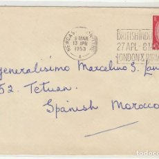 Sellos: CARTA : NEWCASTLE (INGLATERRA) A TETUAN 1953. Lote 61806024