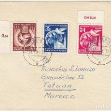 Sellos: CARTA : DRESDEN (ALEMANIA) A TETUAN 1953. Lote 61806584